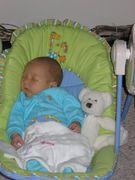 Asleep in the swing