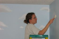 Alisha painting clouds