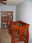 Crib and bookcase