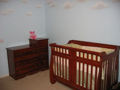 Combo dresser and crib