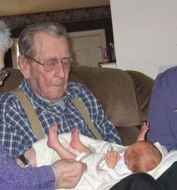 Grandpa and great grandson Robin